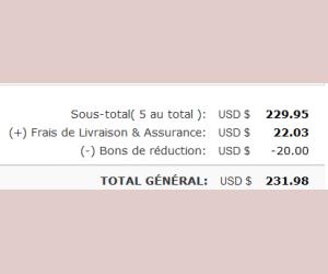 Economie de 19€50 pour toute commande à partir de 196€.