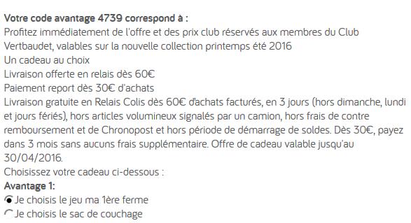Code reduction vertbaudet promo frais de port offert et - Code reduction vertbaudet frais de port gratuit ...