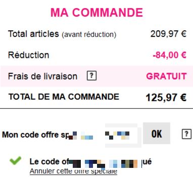 Code reduction les aubaines de la redoute promo frais - Code la redoute frais de port gratuit ...