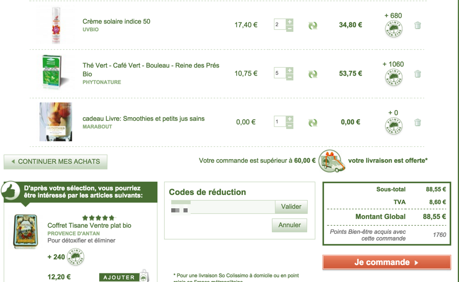 Code reduction natural forme promo frais de port offert - Code promo vente privee frais de port ...