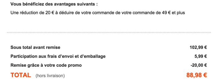 Code reduction bleu bonheur promo frais de port offert - Code promo vente privee frais de port ...