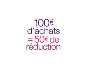 50€ de remise dès 100€ d'achats de blu-Ray ou DVD