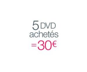 5 DVD achetés = 30€