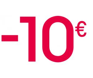 10€ de remise dès 40€ d'achat