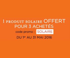 1 produit solaire OFFERT pour 3 achetés !