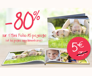 80% de remise sur un mini folio A5