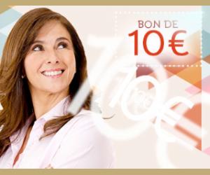 Bon de 10€ offert dès 50€ d'achat !
