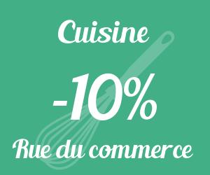 10% de remise sur le rayon cuisine