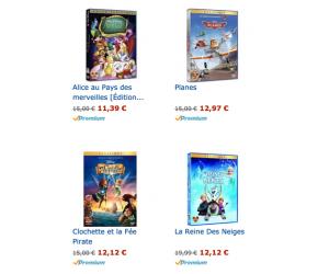 10€ de remise pour l'achat de 2 DVD Disney