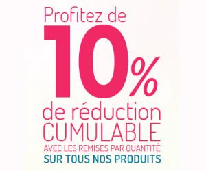 10% de remise sur tous les produits