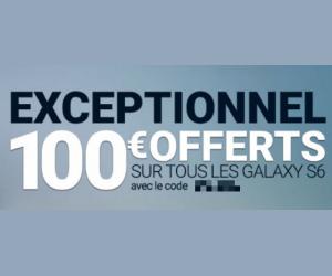 Jusqu'à 100€ remboursés pour l'achat d'un Samsung Galaxy S6