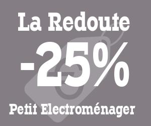 -25% de remise sur votre article petit électro/ beauté
