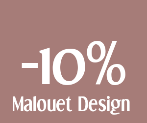 code reduction malouet design 10 de r duction sur votre commande. Black Bedroom Furniture Sets. Home Design Ideas