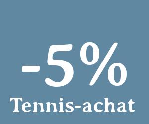 code promo tennis achat 7 euros de reduc d s 100 0 d 39 achat. Black Bedroom Furniture Sets. Home Design Ideas