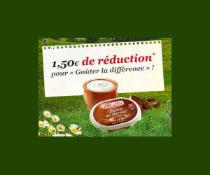 Echantillon : Bon de réduction Elle et Vire Tartine au chocolat
