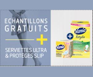 Echantillon : serviettes et protèges-slips Vania