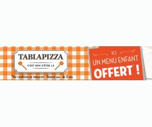 Echantillon gratuit : un menu enfant Tablapizza offert