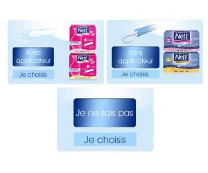 Echantillon gratuit de tampons de la marque Nett