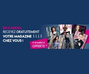 Echantillon gratuit : 9 Magazines Elle