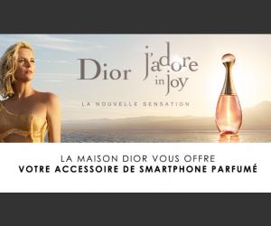 Echantillon gratuit Dior : 1 accessoire de smartphone parfumé