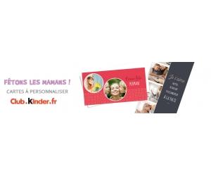 Club Kinder : carte Fête des Mères