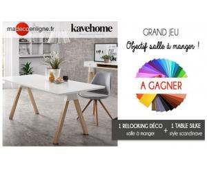 une magnifique table silke kavehome jeux concours. Black Bedroom Furniture Sets. Home Design Ideas