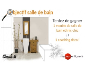 Un joli meuble de salle de bain teck classique jeux concours - Meuble salle de bain classique ...