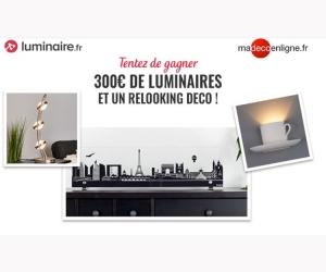 lots de luminaires et relloking deco jeux concours. Black Bedroom Furniture Sets. Home Design Ideas