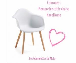Les gommettes de melo une chaise kavehome jeux concours for Chaise kavehome