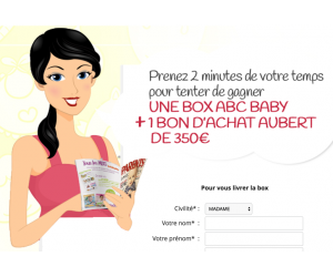 ABC BABY : Une box à gagner