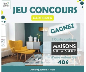 1 carte cadeau maisons du monde chez la petite gomette. Black Bedroom Furniture Sets. Home Design Ideas