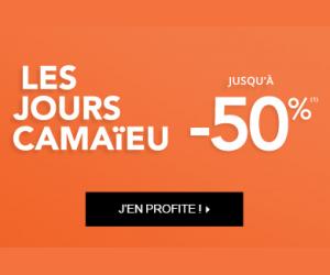 Les jours Camaieu jusqu'à -50%