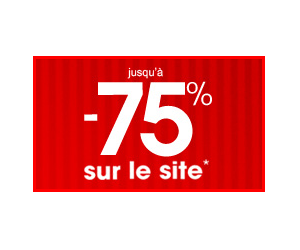 Jusqu'à 75% de remise sur le site !