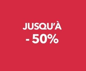 Jusqu'à -50% sur les vêtements et accessoires pour femme