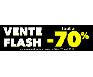 Vente flash jusqu'à -70%