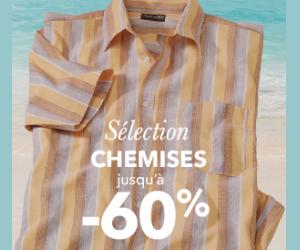 Les chemises et polos homme jusqu'à -60%