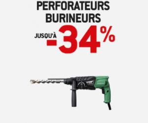 VENTE FLASH Perforateurs burineurs jusqu'à -34%