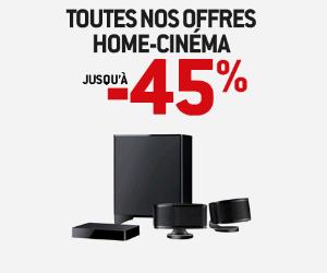 Les Home-Cinémas jusqu'à -45%