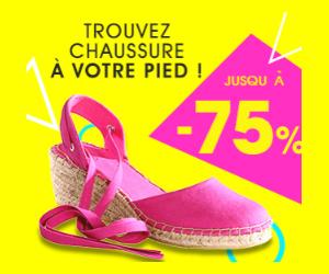 Nouvel arrivage de chaussures jusqu'à -75%