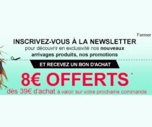 8€ offerts dès 39€ d'achat !