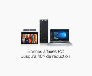 Jusqu'à -40% de réduction sur les PC portables !