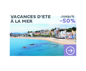 Vacances d'été à la mer jusqu'à -50%