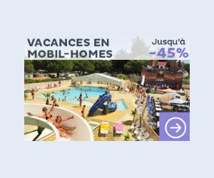 Location de mobil-homes de vacance jusqu'à -45%