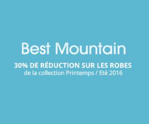 Best Mountain 30% de remise sur la collection Printemps/Été