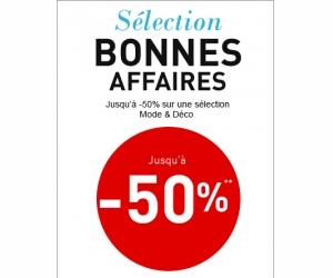 -50% sur la sélection