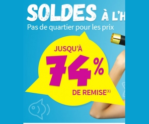 Jusque 74% de réduction