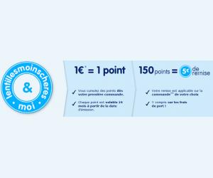 Lentilles Moins Chères vous propose de cumuler vos points en faisant des achats réguliers sur le site afin d'obtenir 5€ de remise pour 150 points
