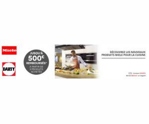 Jusqu'à 500€ remboursés sur les produits Miele