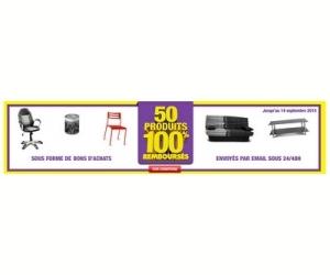 100% remboursés sur 50 produits