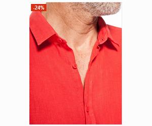 La chemise corail coupe slim à moins 24%